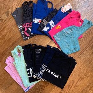 Huge Lot CrossFit  Tanks medium 13 shirts